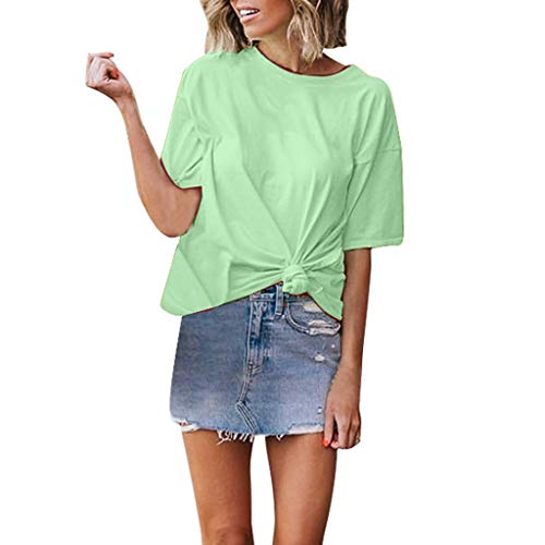 Mebamook Women's Tunic Tops Loose Blouse Shirts Tunic Tops Loose Blouse Shirts Sexy Slim Fit Stretchy Off Shoulder Green ()