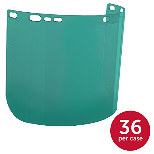 """Jackson Safety F20 High Impact Face Shield (29100), Polycarbonate, 8"""" x 15.5"""" x 0.04"""", Dark Green, Face Protection, Unbound, 36 Shields / Case by Jackson Safety (Image #1)"""