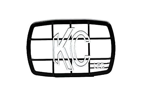KC HiLiTES 7220 Gravity LED G46 Black Stone Guard (ea) - Kc Hilites Stone Guard