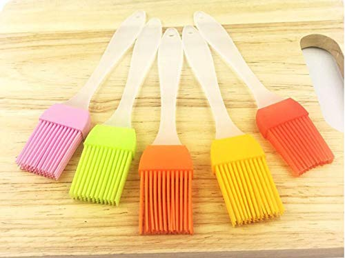 Huyenkute by DHL 2000pcs Multi Color Silicone Basting Pastry Brush Oil Brushes for Cake Bread Butter Baking Tools Safety BBQ Barbeque