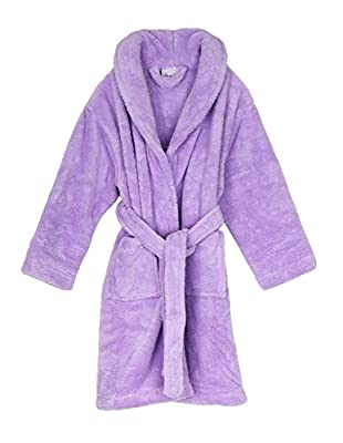 TowelSelections Girls Plush Shawl Robe Super Soft Fleece Bathrobe Made in Turkey