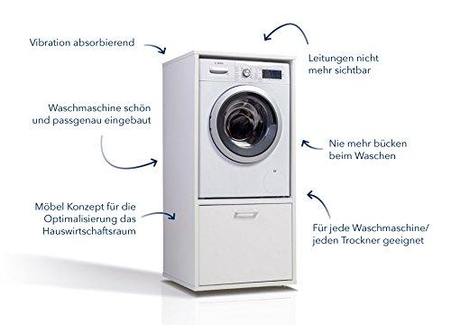 Vicco waschmaschinenschrank cm weiß ab