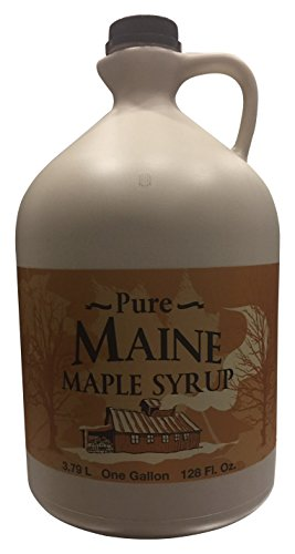 Maine Maple Syrup - Arnold Farm Sugarhouse Organic Maine Maple Syrup, Plastic Gallon Jug, 128 Ounce