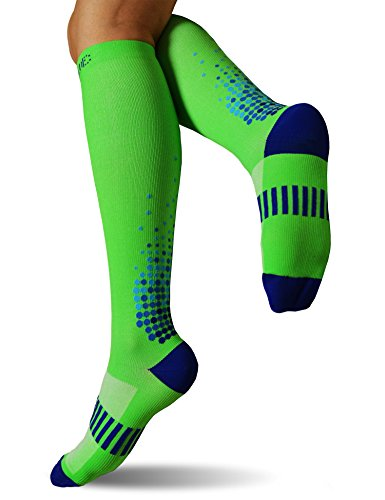 a4327723a73db SUGUE Compression Socks (1 Pair) 20-30 mmHg for Women & Men - Best  Graduated Athletic Fit for Running, Flight, Nurses, Maternity, Pregnancy -  Shin ...