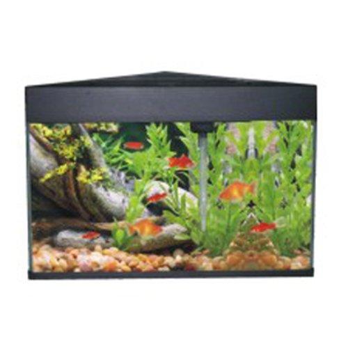 AA-Eck Aquarium 50 L Triangular schwarz, Komplett Set