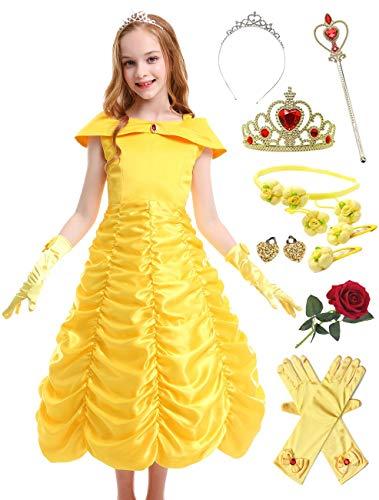 BARFFARI Child Princess Dress Sleeveless Cosplay Costume Birthday