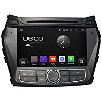KUNFINE Android 6.0 Otca Core Car DVD GPS Navigation Multimedia Player Car Stereo For Hyundai IX45 Santa Fe 2013-2014 Steering Wheel Control 3G Wifi Bluetooth Free Map Update 8 Inch