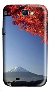 Mount Fuji Japan In Autumn PC Case and Cover for Samsung Galaxy Note 2/ Note II/ N7100