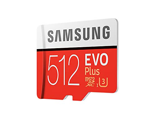 Samsung 512 GB Evo Plus Micro SD Card with Adapter