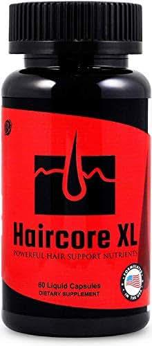 Haircore XL: DHT Blocker, Stops Hair Loss, Thinning, Balding, Repairs Hair Follicles, Promotes New Hair Growth, Regrow Hair, Men & Women, All Hair Types, 30 Day Supply