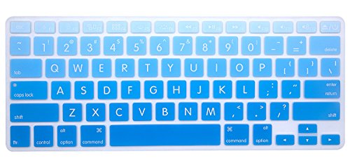 HRH Big Font Sky Blue Gradient Keyboard Cover Silicone Skin for MacBook Air 13 and MacBook Pro 13