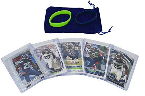 Richard Sherman Football Cards Assorted (5) Bundle - Seattle Seahawks Trading Cards