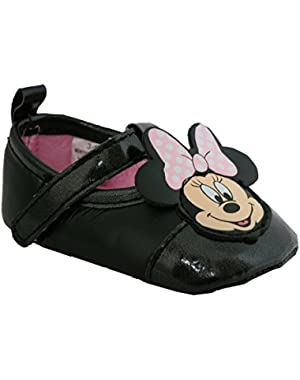 Baby girls Minnie Mouse Black Dress Shoes