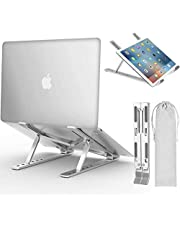 """Laptop Stand, Adjustable Ergonomic Laptop Stand with Laptop Stand, Aluminum Folding Desk Stand, Compatible with MacBook, Air, Pro, Dell XPS, Samsung, Lenovo, Alienware All Laptops 10-15.6"""""""