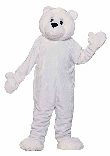 Forum Novelties Deluxe Adult Plush White Polar Bear Mascot Costume Animal Std (Sexy Polar Bear Costume)
