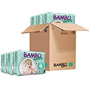 Bambo Nature Eco Friendly Baby Diapers Classic for Sensitive Skin, Size 2 (7-13 lbs), 180 Count (6 Packs of 30)