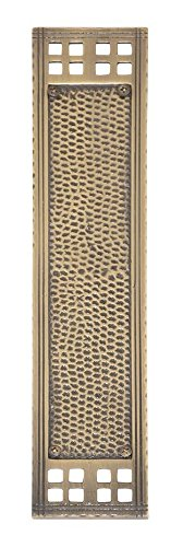 "BRASS Accents A05-P5350-609 Arts & Crafts Push Plate, 2-7/8"" x 11-1/4"", Antique Brass from BRASS Accents"