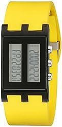 EOS New York Unisex 120SYEL Binary Digital Watch