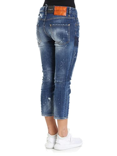 Blu DSQUARED2 Jeans S72LB0061S30342470 Donna Cotone xwqwYXTU