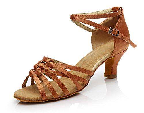 Adult ShangYi height Shoes Female deep Latin skin with CN41 Shoes Dancing Women's Shoes 5cm Soft High EU40 Latin Lady UK7 soled Dance Heels Dance Shoes YnwaqYCr