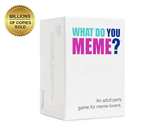 WHAT DO YOU MEME? Party Game (Best Board Games For Groups Of Adults)
