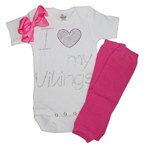 Baby Girls Viking/Vikings Baby Girls Shortsleeve Rhinestone (Viking Outfit Girl)