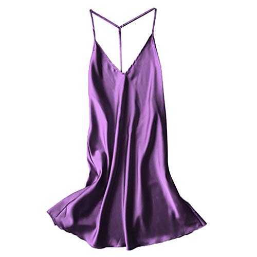Bustiers Plus Size Summer Tanks Thongs for Women Babydoll Tops Sequin Bodysuit Wireless Bra Satin Chemise Nightgown Orchard Corset Shaping Panties Purple ()