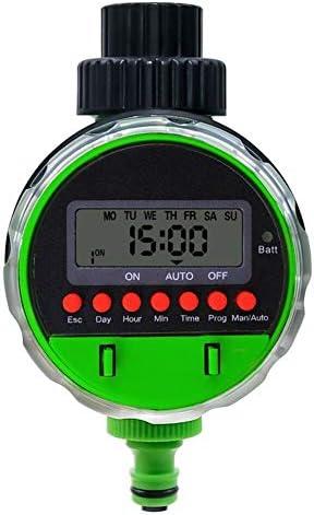 Nologo Automatische LCD-Anzeige Bewässerungstimer/Elektronisch Gartenkugelhahn Bewässerungssteuerung for Gartenpflanzen
