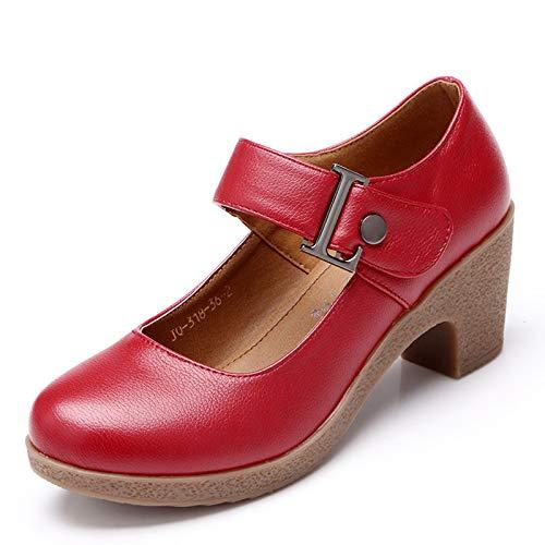 HOESCZS Frauen Schuhe Frauen Square Dance Schuhe Hochhackigen Soft Bottom Dance Schuhe Leder Sohle Tanzschuhe Frühling Und Herbst B07JQL88HQ Sport- & Outdoorschuhe Zu einem erschwinglichen Preis