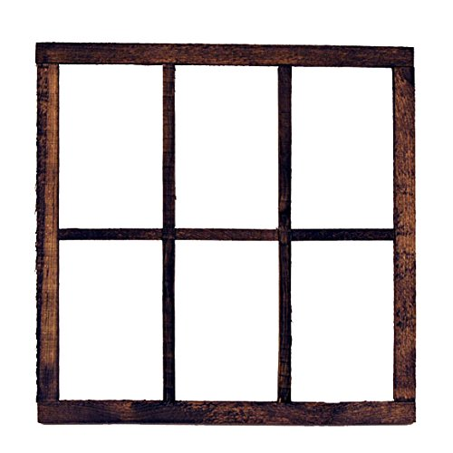 Direct 6 Panel Rustic Wood Window Frame 22quot x 22quot x 75quot