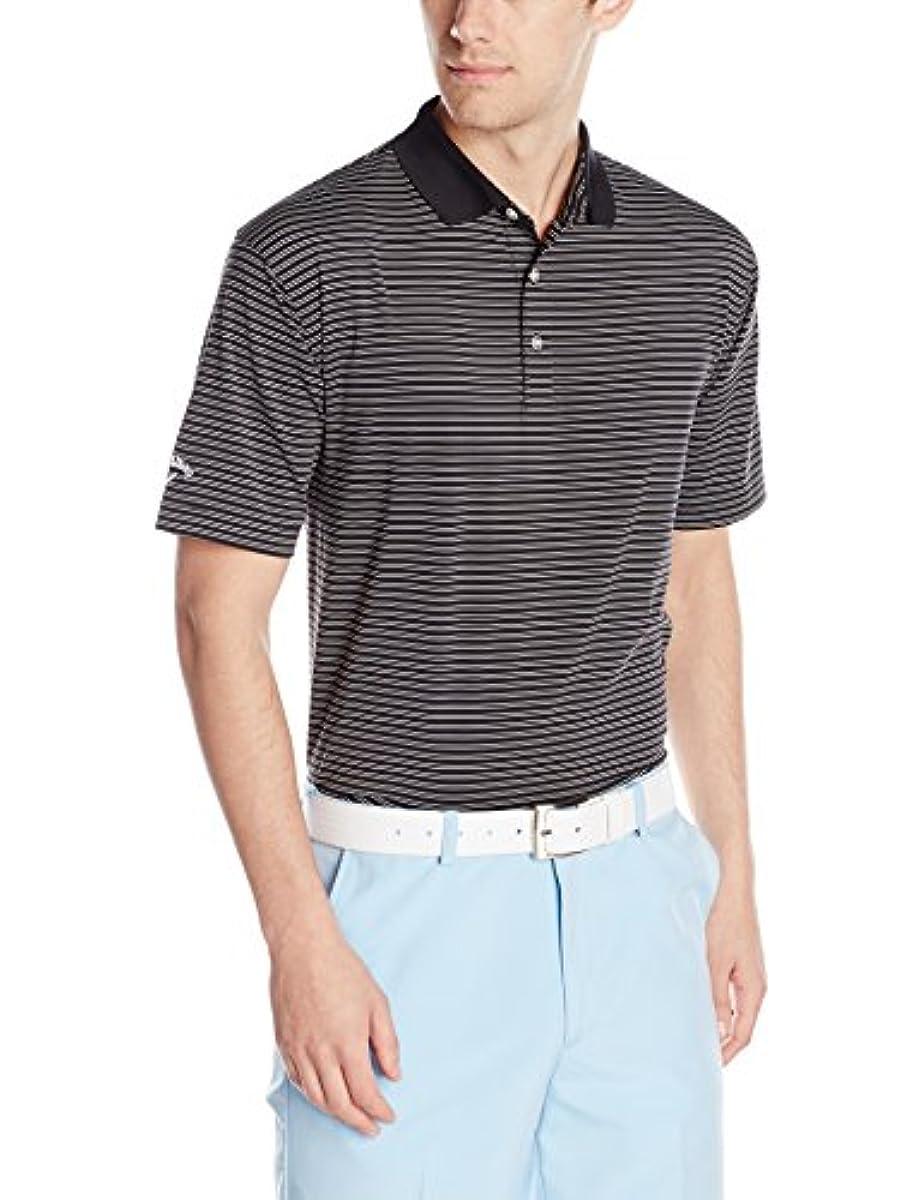 [해외] CALLAWAY맨즈 골프 반소매FINE LINE스트라이프 폴로 셔츠