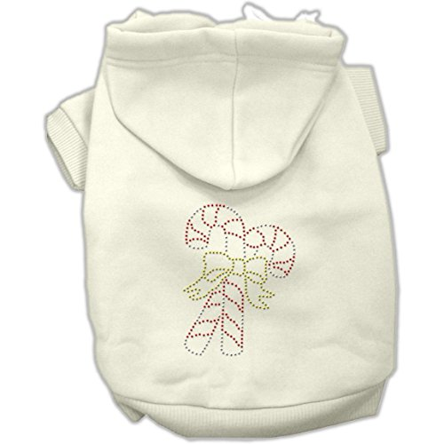 Candy Canes Hoodies Cream - Dog Supplies Candy Cane Hoodies Cream Xl (16)