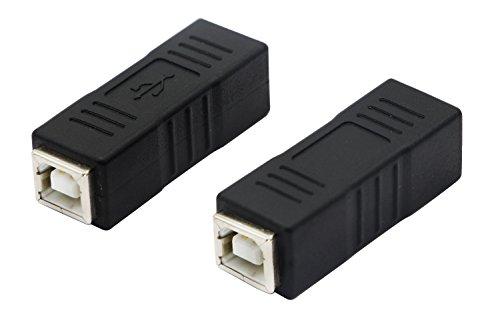 CGTime USB B Print Adapter USB B Print Port Female to Female Converter (2 Packs) ()