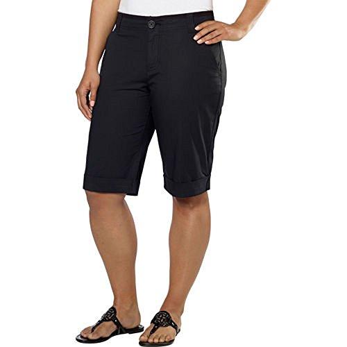 DKNY Jeans Women's Bermuda Walking Shorts (8, Black) ()