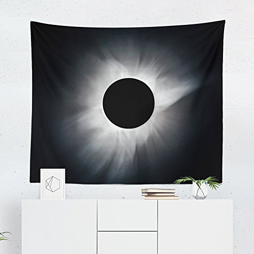 Solar Eclipse Tapestry - Moon Sun Stars Wall Tapestries Hanging Décor Bedroom Dorm College Living Room Home Art Print Decoration Decorative - Printed in the USA - Small Medium Large Sizes by WFRANCIS American Made