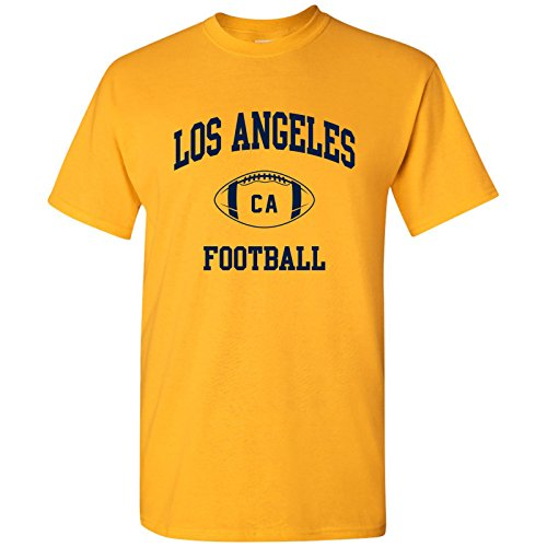 Los Angeles Classic Football Arch Basic Cotton T-Shirt - Large - Gold