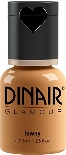 Dinair Airbrush Makeup Foundation | Tawny | GLAMOUR: Natural, Light coverage, Matte 0.25 oz