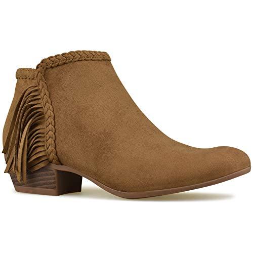 f555b6f88dc Expert choice for fringe boots low heel | Pokrace.com