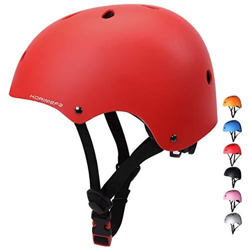 KORIMEFA Skateboard Bike Helmet for Kids Youth Adult Adjustable Lightweight Multi-Sport Roller Skating Cycling Scooter Inline Skating Rollerblading Longboard for Men Women