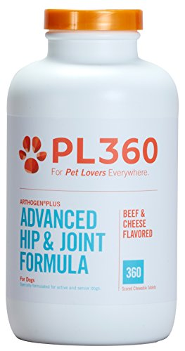 PL360 Advanced Hip & Joint Support for Dogs, Arthogen Plus MSM & HA, 360ct -