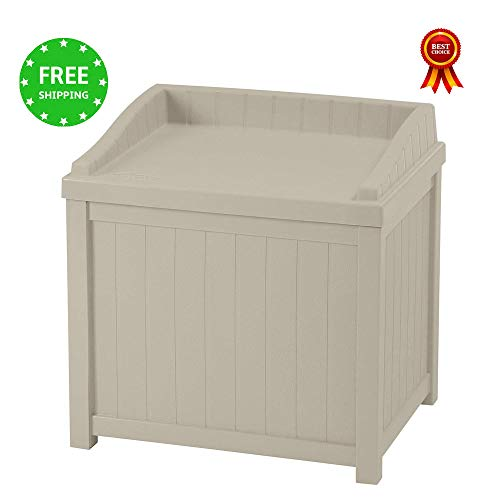 Patio Storage Cabinet Coffee Table 22 Gallon Storage Box Waterproof Durable & Seat for Indoor Outdoor Garden Backyard Home Furniture Container Weather Resistance & e-book by jn.widetrade. by jnwd