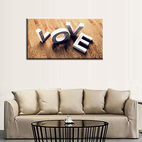 Canvas Wall Art Romantic Love Painting Print - 20\