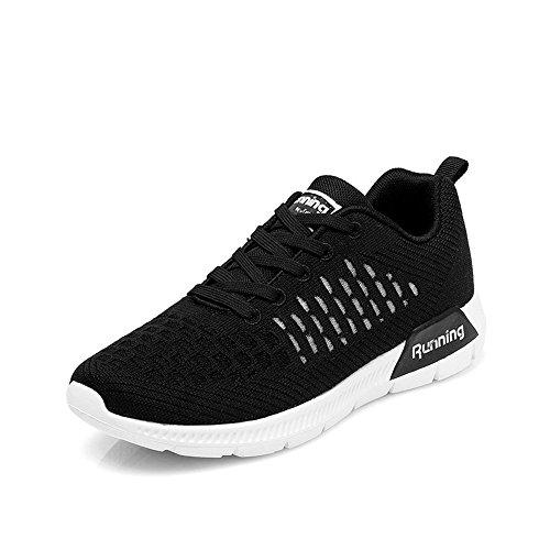Femmes De Fitness Monrinda Lger Respirant Baskets 0black Jogging Marche Gym Trainers Sport Confortable Course Chaussures waq75r7t