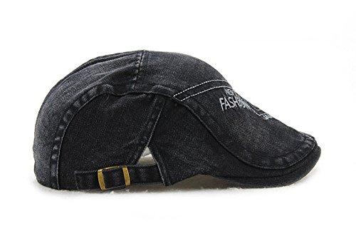 Ajustable Femme Acvip 59cm Homme Casquette Plate En Tête Coton De Tissu Tour Noir Chapeau 56 Béret ppvxrfn1