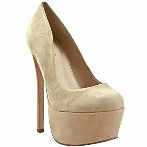 Zigi Girl - ZigiNY SPYGLASS Womens Platform Suede Dress Pumps (8, Tori Beige)