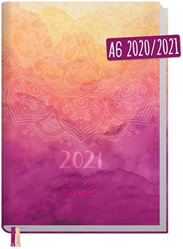 Chäff-Timer Mini A6 Kalender 2020/2021 [Mandala] Terminplaner 18 Monate: Juli 2020 bis Dez. 2021 | Wochenkalender, Organizer, Terminkalender mit Wochenplaner - nachhaltig & klimaneutral