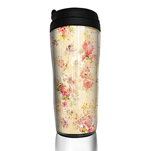 Coffee Cups Floral Travel Tumbler Insulated Leak Proof Drink Containers Holder Fabulous 12 Ounces
