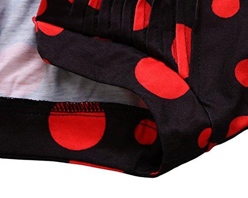 3 Lche Dokotoo Femme Tunique Rouge et Top Chic Imprim Femme Fleur Printemps Blouse 4 Shirt T Manche w1xwH