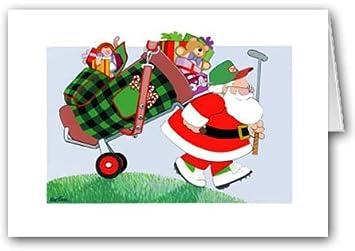 Amazoncom Christmas Golf Bag Christmas Card Golfing Cards - Golf christmas cards
