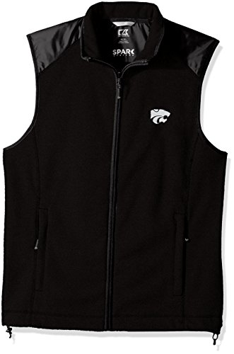 - Cutter & Buck NCAA Kansas State Wildcats Adult Men Cedar Park Full Zip Vest, X-Large, Black